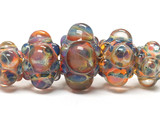 10504811 - Five Graduated Multi-Colored Rondelle Beads
