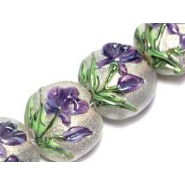 10603912 - Four Regalia Flower Lentil Beads