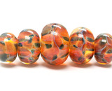 10504711 - Five Graduated Green & Orange Beads