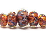 10902511 - Five Graduated Multi-Colored Rondelle Beads