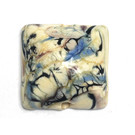 11809004 - Ivory w/Black & Blue Free Style Pillow Focal Bead