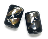 10204103 - Six Elegant Black Metallic Mini Kaleras Beads