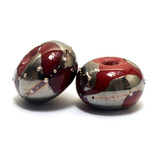 10704201 - Seven Regal Red Metallic Rondelle Beads