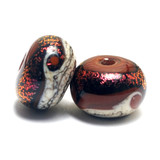 10903001 - Seven Hot Lava Waves Rondelle Beads