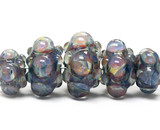 10408911 - Five Graduated Purple & Blue Rondelle Beads