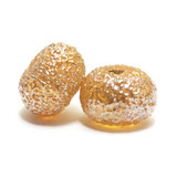 10801201 - Seven Golden Yellow Metallic Rondelle Beads