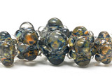 10504211 - Five Graduated Blue & Yellow Rondelle Beads