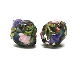 10407407 - Five Pink &amp; Purple Floral Crystal Beads
