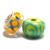 11001001 - Seven Colorful Rondelle Beads