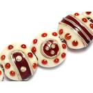 10304602 - Seven Ivory w/Red Lentil Beads