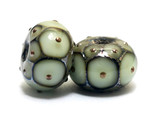 10504901 - Seven Moss Green w/Metal Dots Rondelle Beads