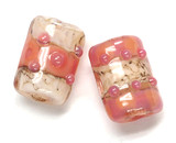 10704303 - Six Pink/Soft Orange Mini Kalera Beads