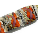 11105804 - Seven Coral w/Ivory Free Style Pillow Beads