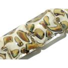 11100904 - Seven Ivory w/Beige Pillow Beads
