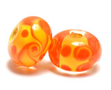 11003501 - Seven Orange & Yellow Rondelle Beads