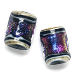 10604203 - Six Amethyst Jewel Ridge Mini Kalera Beads