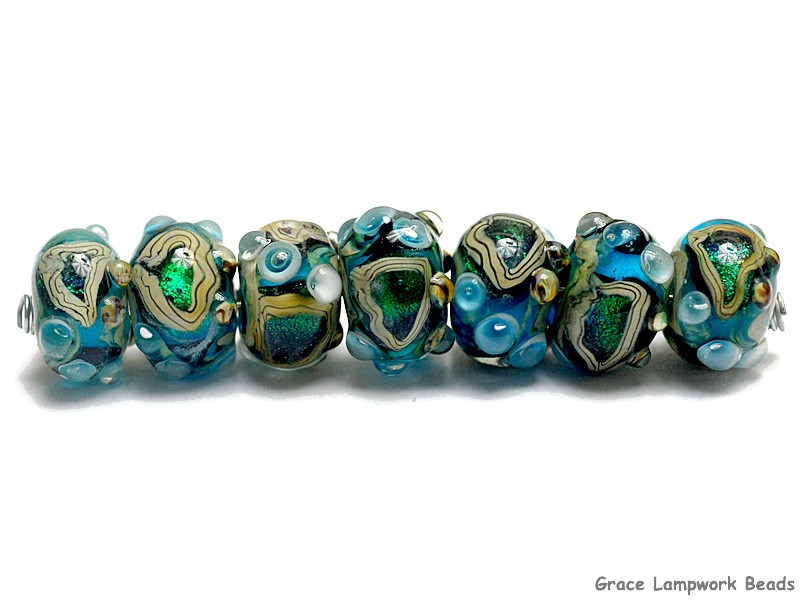 seven mirage lake rondelle beads