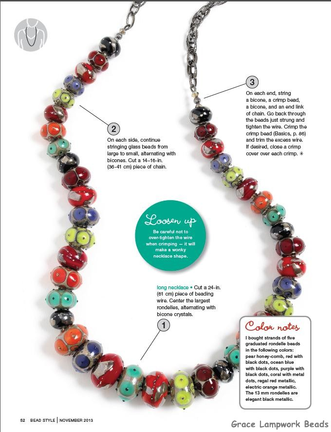 Grace Lampwork Beads LC-Bead Style Mag Cover and Cover Story ...