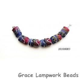 10108003 - Six Pink/Purple Mini Kalera Beads