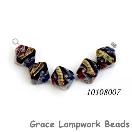 10108007 - Five Pink/Purple Crystal Beads