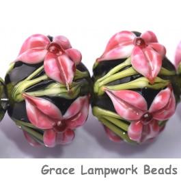 10110307 - Five Pink Iris Crystal Beads