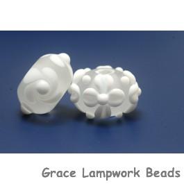 10204001 - Seven Matte Finish White Rondelle Beads