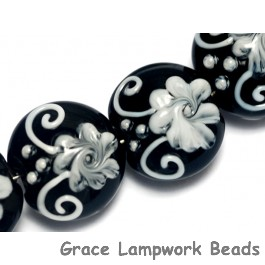 10204212 - Four Midnight Garden Lentil Beads