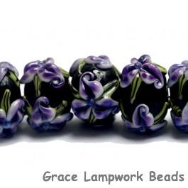 10205701 - Seven Purple Iris Rondelle Beads