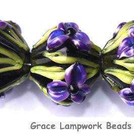 10205707 - Five Purple Iris Crystal Beads
