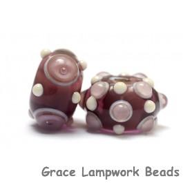 10301701 - Seven Amethyst w/Light Ivory Rondelle Beads