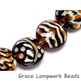 10302602 - Seven Animal Prints Lentil Beads