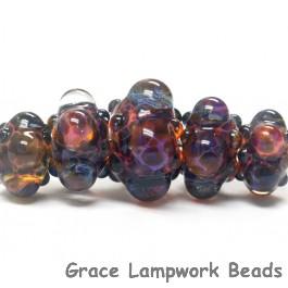 10408411 - Five Graduated Multi-Colored Rondelle Beads