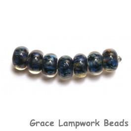 10409101 - Seven Blues Boro Rondelle Beads