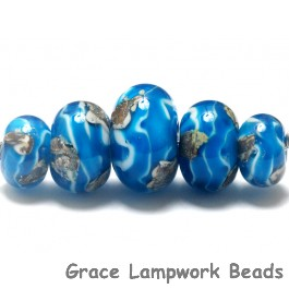 10413511 - Five Zircon Blue Treasures Graduated Rondelle Beads