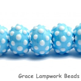 10414001 - Seven Polka Dots on Baby Blue Rondelle Beads