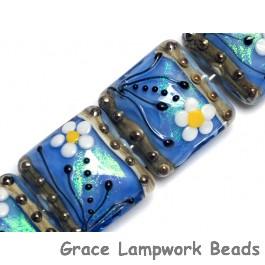 10414214 - Four Arctic Blue Florals Pillow Beads