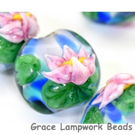 Water Lily Glass Beads