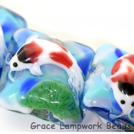 Four Koi Fish Pillow Beads