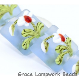 White Orchid Glass Beads