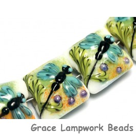 10504604 - Seven Blue Dragonfly Pillow Beads