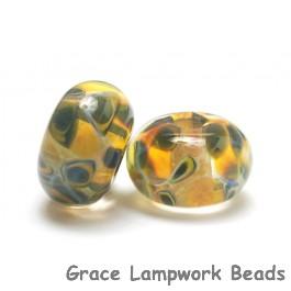 10504701 - Seven Green & Orange Rondelle Beads