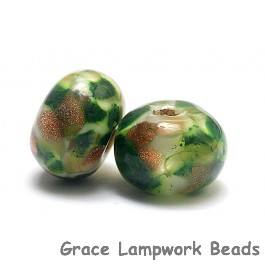 10505501 - Seven Jamaica Forest Rondelle Beads