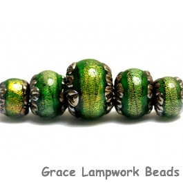 10507311 - Five Herbal Garden Shimmer Graduated Rondelle Beads