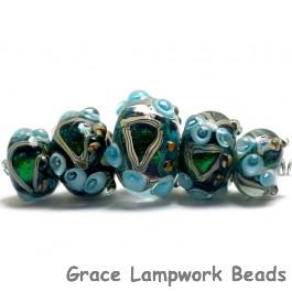 10508311 - Five Mirage Lake Graduated Rondelle Beads