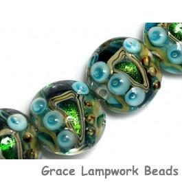10508312 - Four Mirage Lake Lentil Beads