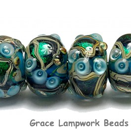 10508321 - Six Mirage Lake Rondelle Beads