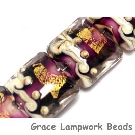 10602904 - Seven Amethyst Treasure Pillow Beads