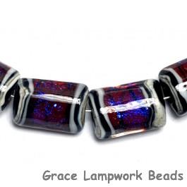 10604003 - Six Violet Shimmer Mini Kalera Beads