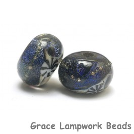 10604101 - Seven Indigo Night Celestial Rondelle Beads