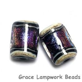 10604203 - Six Amethyst Jewel Ridge Mini Kalera Beads
